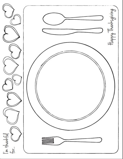 table setting template free coloring pages of place setting