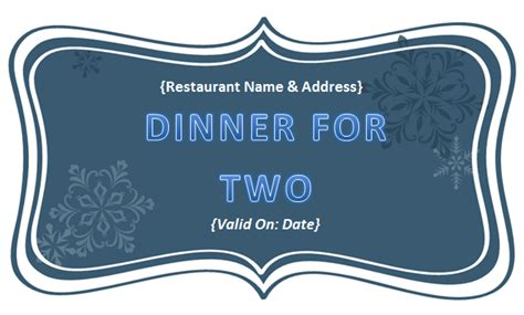 Dinner Certificate Template Free best photos of food voucher template in pdf payment