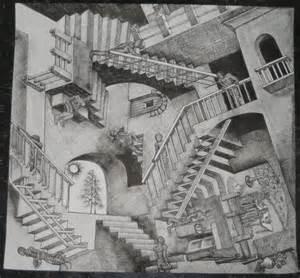 escher treppen escher stairs by rainbowspirit on deviantart