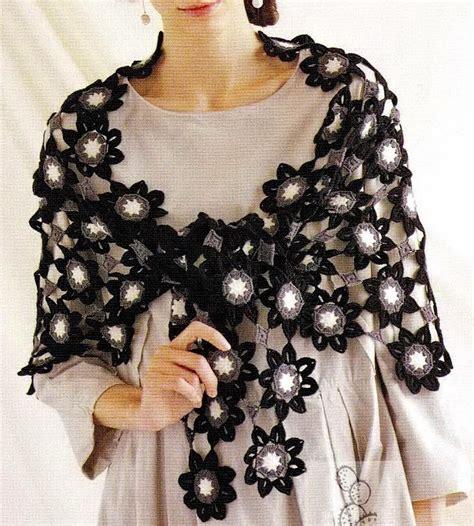 Pashmina Motif Flowers 1 shawl crochet pattern flower motif crochet kingdom