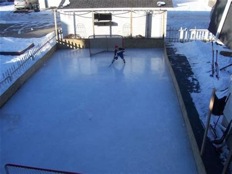 backyard hockey rink backyard rinks