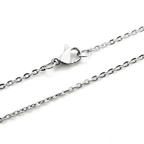 cadenas de acero inoxidable para hombre collar para hombre y mujer cadena acero inoxidable plata