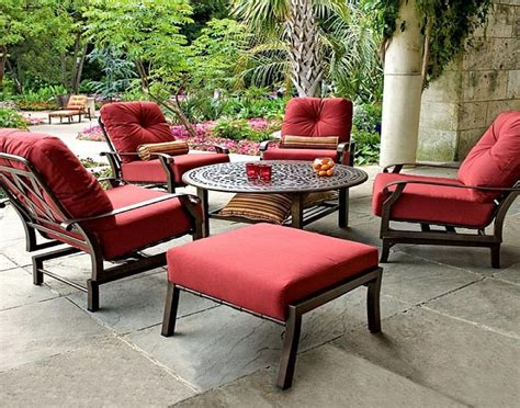 Red Color Cushions For Outdoor Furniture, outdoor