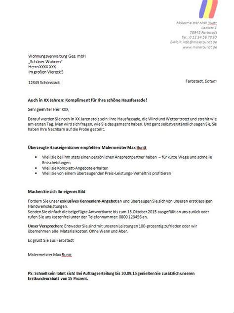Umtausch Schreiben Muster Werbebrief Fr Eine Weinhandlung Werbebrief Reinigungsservice Kaltakquise Auch Die Muster