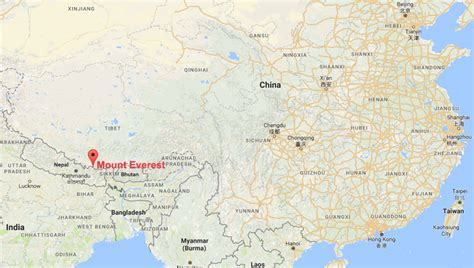 where is mt everest on a world map mount everest facts location weather tour chomolungma