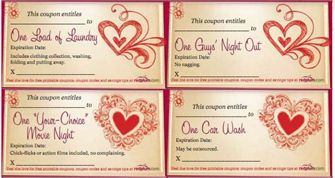 free printable love coupons for mom free printable valentines love coupons for your
