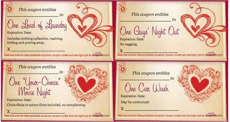 pinterest free printable love coupons free printable valentines love coupons valentines