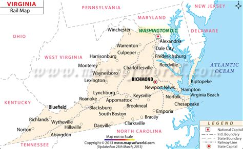 usa virginia map virginia railroad map