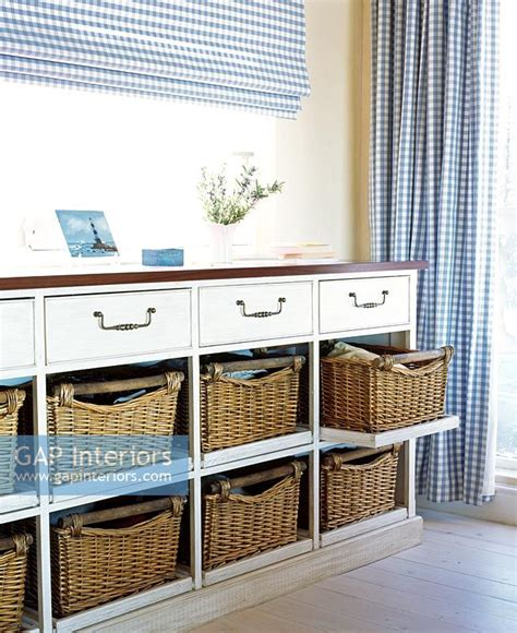 gap interiors chest of drawers with wicker baskets