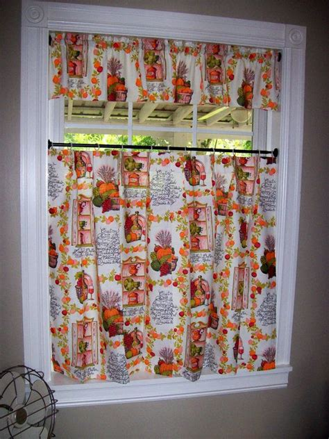 kitchen curtains vintage vintage kitchen curtains set tiers cafe valance pinch