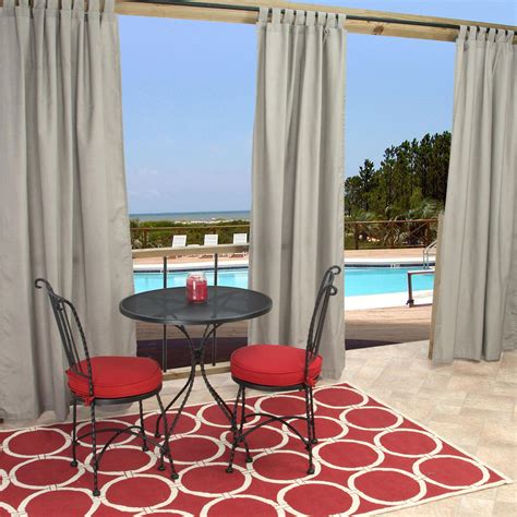 sunbrella curtains patio sunbrella spectrum dove outdoor curtain with tabs 50 in x