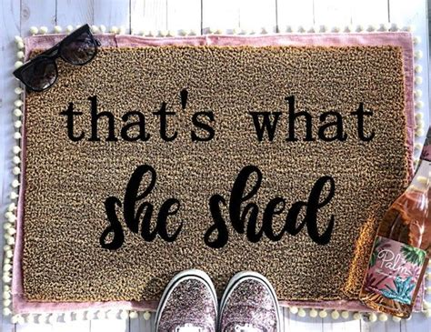 shed doormat girly doormat    shed