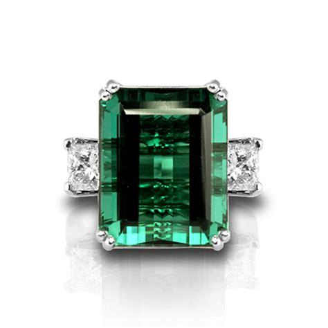 emerald cut green tourmaline ring jewelry designs