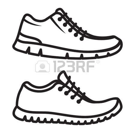 running shoe drawing clipart running shoes many interesting cliparts