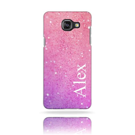 Phone Cases M A K ini57 t21 personalised initials pink glitter plastic