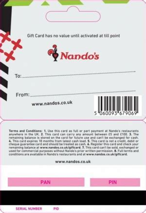 TheGiftCardCentre.co.uk Nandos Gift Card