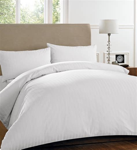 henderson stripe white bedding collection double bed set