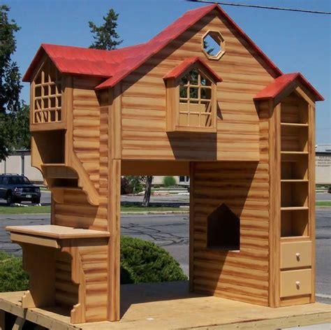 log cabin bunk beds log cabin bunk bed w side desk h o m e boys room pinterest