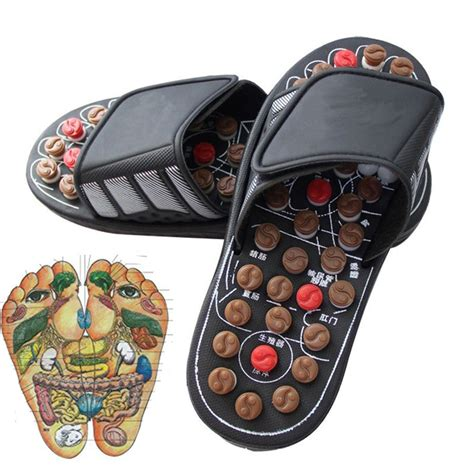 Sandal Refleksi Acupunture Magnetic Kongsui Promoo 2017 sandal reflex foot care slippers tool acupuncture magnetic foot massager shoes health care