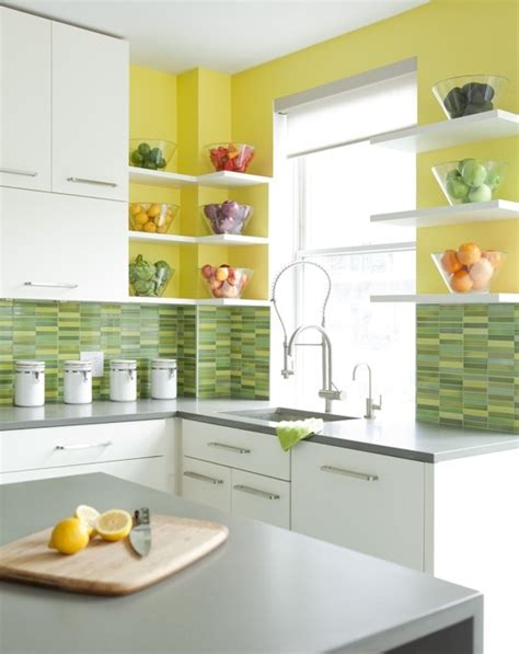 yellow kitchen backsplash ideas cheerful summer interiors 50 green and yellow kitchen