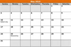 May 2015 Calendar Template by May 2015 Calendar Template 8ws Templates Forms