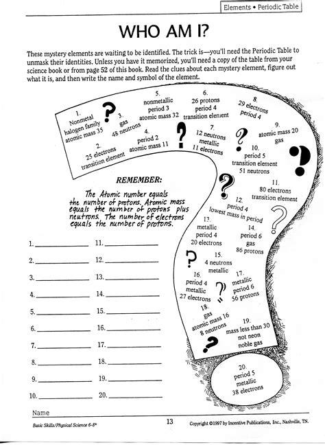 who am i worksheet bohr diagram practice worksheets the knownledge