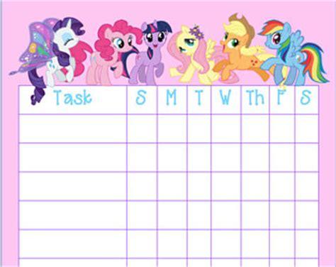 printable reward charts my little pony chore chart printable etsy
