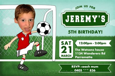 printable birthday cards soccer 8 best images of soccer birthday invitations printable