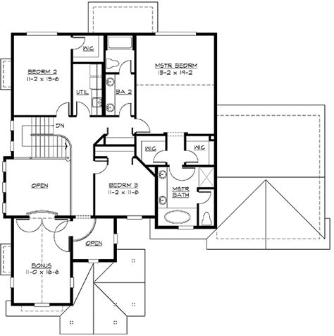 mission style in two versions 36346tx 2nd floor master suite butler walk in pantry cad unique two story entry 23052jd 2nd floor master suite