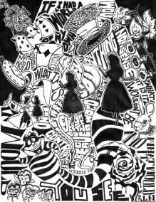 alice in wonderland in doodle format by indoodleformat on