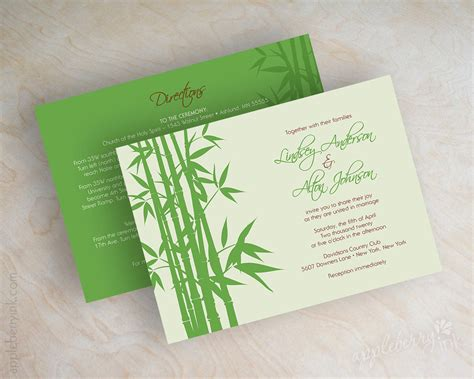 Green Theme Wedding Invitations by Wedding Collections Wedding Dresses Wedding