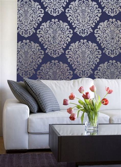 floral borders for living room wall stencils paint ideas 107 best living dining room stenciling images on