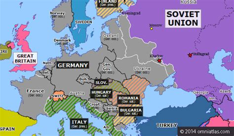 map of europe 1942 aftermath of stalingrad historical atlas of europe 19
