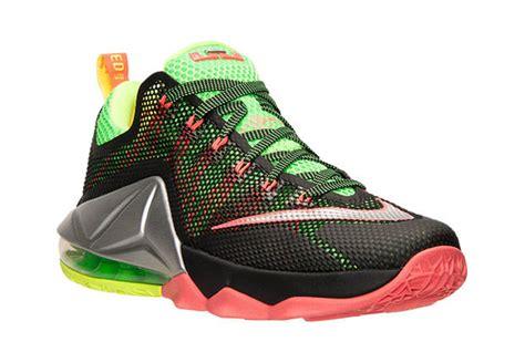 Sepatu Basket Nike Lebron12 Low Black Green Lebronjames Sneakers nike lebron 12 low remix sneaker bar detroit