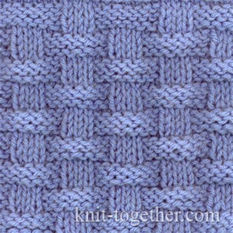 woven basket stitch knitting knit together basket wicker stitch pattern 2 knitting
