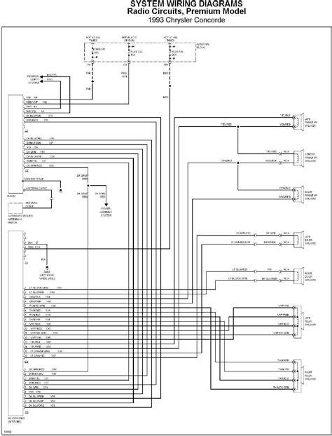 Chrysler Concorde 1993 Radio Circuit System Wiring Diagram