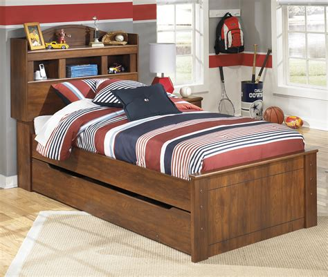 signature design  ashley furniture barchan twin bookcase bed  trundle  bed storage