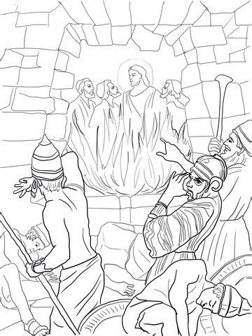 Daniel 3 Coloring Page by Shadrach Meshach And Abednego In The Fiery Furnace