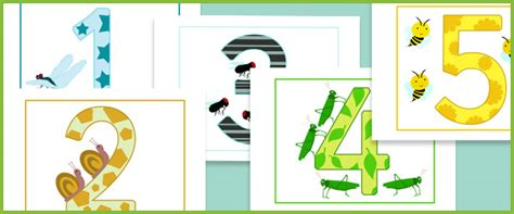 printable numbers early years minibeasts themed numbers 1 10 eyfs ks1 free early