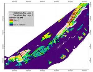 sea floor survey key largo florida using along track