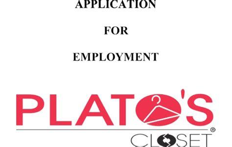 Platos Closet Application by Plato S Closet Application Pdf Print Out