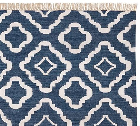 recycled material rugs recycled yarn indoor outdoor rug navy blue pottery barn