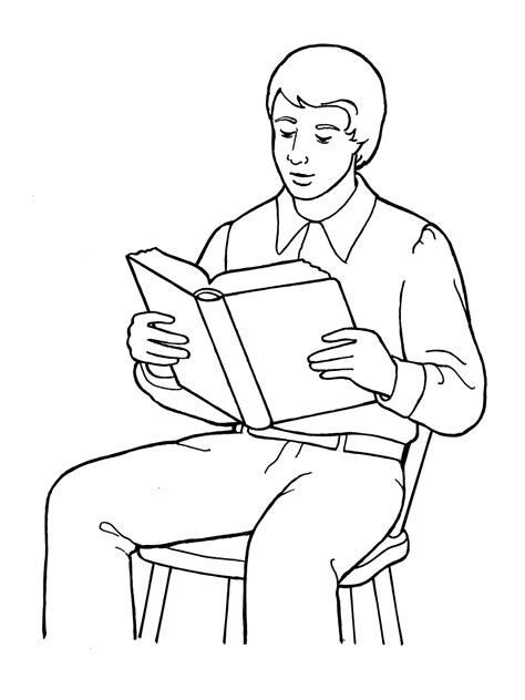 coloring page of jesus reading the bible joseph smith reading the scriptures