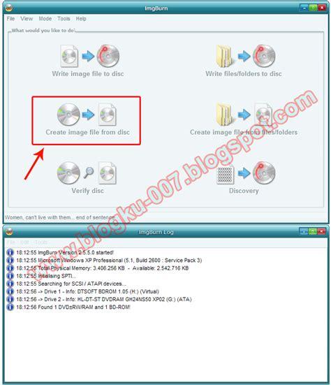 membuat file iso image cara mudah membuat file iso menggunakan imgburn 2 5 5 0