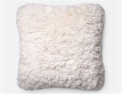 Fluffy Throw Pillows Steinhafels Fluffy Faux Fur Ivory Decorative Pillow
