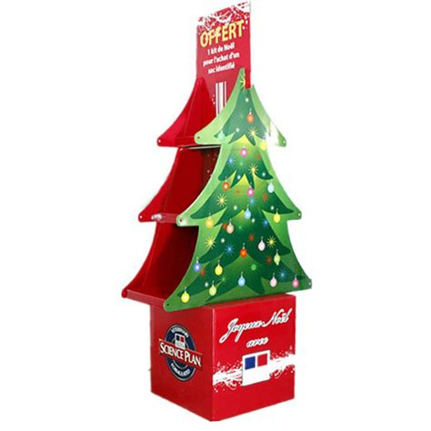 china point of sale christmas tree cardboard display stand
