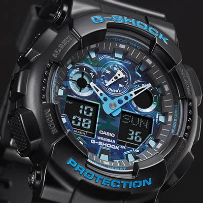 orologio casio g shock orologio g shock ga 100cb 1aer cool blue