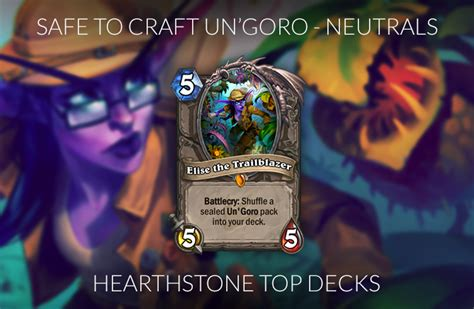 hearthstone meta decks hearthstone crafting guide for the journey to un goro meta