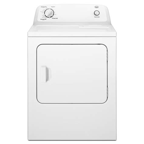 Automatic Dryer shop roper 6 5 cu ft electric dryer white at lowes