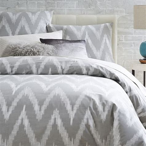 grey pattern duvet cover organic chevron duvet cover shams west elm